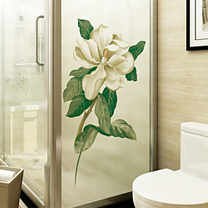 cheap Wall Stickers-Window Film & Stickers Decoration Floral / Contemporary Floral PVC(PolyVinyl Chloride) Window Sticker / Matte