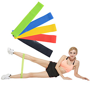 cheap Fitness Gear & Accessories-Exercise Resistance Bands Emulsion Calories Burned Non Toxic Stretchy Strength Training Physical Therapy Yoga Pilates Fitness For Home Office