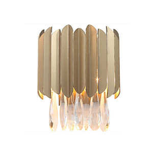 cheap Indoor Wall Lights-Crystal LED / Modern / Contemporary Wall Lamps & Sconces Living Room / Study Room / Office Metal Wall Light 110-120V /