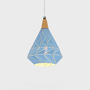 cheap Indoor Wall Lights-1-Light QINGMING® 15 cm Mini Style Pendant Light Metal Geometrical Painted Finishes Nature Inspired / Chic & Modern 110-120V / 220-240V