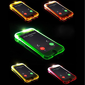 cheap iPhone Cases-Case For Apple iPhone X / iPhone 8 Plus / iPhone 8 LED Flash Lighting Back Cover Solid Colored Soft TPU