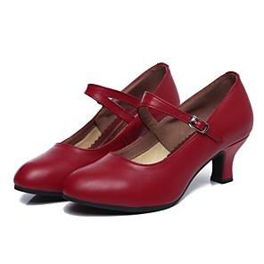 cheap Ballroom Shoes & Modern Dance Shoes-Women's Dance Shoes Cowhide Modern Shoes/Character Shoes Heel Customized Heel Customizable Black / Drak Red / Indoor / Performance / EU40