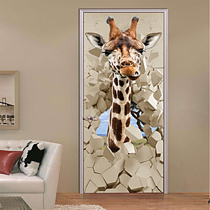 cheap Wall Stickers-Decorative Wall Stickers - 3D Wall Stickers Landscape / Animals Study Room / Office / Kids Room