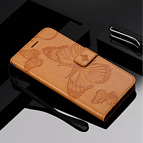 cheap Other Phone Case-Case For Motorola Moto Z Force / Moto X Style / MOTO G6 Wallet / Card Holder / with Stand Full Body Cases Butterfly Hard PU Leather / Moto G5 Plus