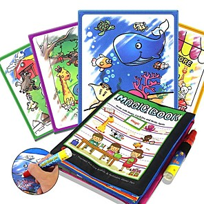 cheap Drawing Toys-Drawing Tablet Magic Water Drawing Book Creative Child's Boys' Girls' for Birthday Gifts or Party Favors