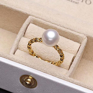 cheap Necklaces-Women's Open Ring Pearl Freshwater Pearl Gold Silver Stainless Steel S925 Sterling Silver Freshwater Pearl Circle Ladies Simple Basic Gift Daily Jewelry