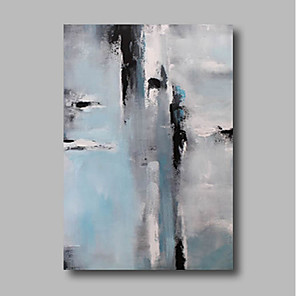 cheap Abstract Paintings-Oil Painting Hand Painted - Abstract Comtemporary Canvas