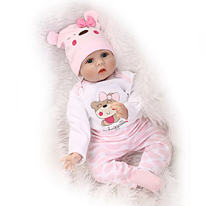 cheap Reborn Doll-NPKCOLLECTION 22 inch NPK DOLL Reborn Doll Reborn Toddler Doll Newborn lifelike Cute Child Safe Non Toxic with Clothes and Accessories for Girls' Birthday and Festival Gifts / CE Certified