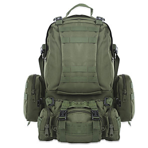 cheap Backpacks & Bags-50 L Hiking Backpack Military Tactical Backpack Breathable Straps - Waterproof Portable Durable Wear Resistance Outdoor Camping / Hiking Hunting Fishing Oxford ACU Color CP Color Jungle camouflage