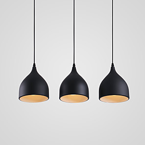 cheap Dimmable Ceiling Lights-3-Light 17CM Designers Pendant Light Metal Cluster Painted Finishes Modern Contemporary 110-120V / 220-240V