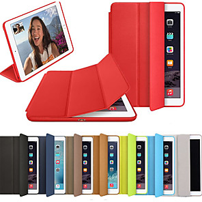 cheap Video Door Phone Systems-Case For Apple iPad Air / iPad 4/3/2 / iPad (2018) Flip / Origami / Magnetic Full Body Cases Solid Colored Hard PU Leather / iPad (2017) / iPad Pro 10.5