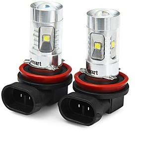 cheap Car Headlights-SENCART 2pcs H8 Motorcycle / Car Light Bulbs 30W SMD LED 1800-2100lm 6 LED Fog Light For universal All years