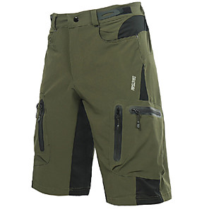 cheap Hiking Trousers & Shorts-Arsuxeo Men's Cycling MTB Shorts Polyester Spandex Bike Shorts Baggy Shorts MTB Shorts Breathable Quick Dry Waterproof Zipper Sports Dark Gray / Orange / Dark Green Mountain Bike MTB Road Bike Cycling