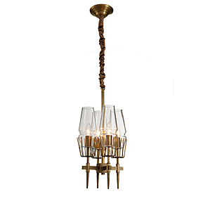 cheap Candle-Style Design-LightMyself™ 4-Light 30 cm Crystal Chandelier Metal Candle-style Brass Rustic / Lodge / Modern Contemporary 110-120V / 220-240V