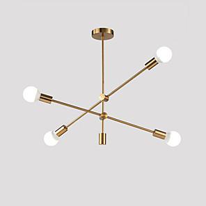cheap Island Lights-Modern Electroplated Pendant Lights With 4-Lights Fixture Flush Mount Living Room Dining Room Bedroom Chandelier