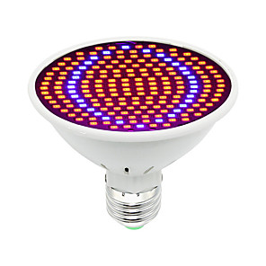 cheap LED Cabinet Lights-Grow Light LED Plant Growing Light LED Growing Light Bulb 30W 85-265V 1600 lm E26/E27 200 LED Beads SMD 5730 Decorative Red Blue RoHS FCC