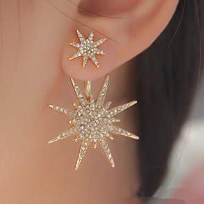 cheap Earrings-Women's Crystal Stud Earrings Jacket Earrings Star Galaxy Star of David Ladies Fashion Elegant Bling Bling everyday Iced Out Cubic Zirconia Rhinestone Earrings Jewelry Gold / Silver For Wedding Party