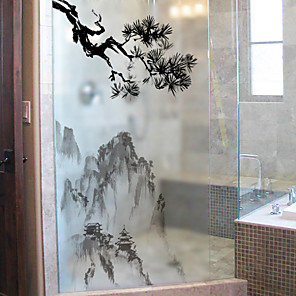 cheap Wall Stickers-Window Film & Stickers Decoration Simple Simple PVC(PolyVinyl Chloride) Window Sticker / Matte / Water-Repellent