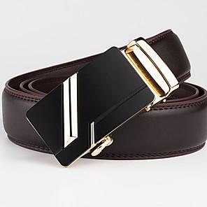 cheap Women's Boots-Men's Basic Leather Waist Belt - Geometric / Solid Colored