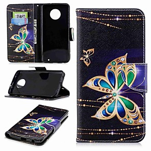 cheap Other Phone Case-Case For Motorola MOTO G6 / Moto G5s / Moto G5 Plus Wallet / Card Holder / with Stand Full Body Cases Butterfly Hard PU Leather