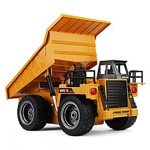 cheap RC Cars-RC Car 1540 6CH 2.4G Construction Truck 1:18 Brush Electric 30 km/h