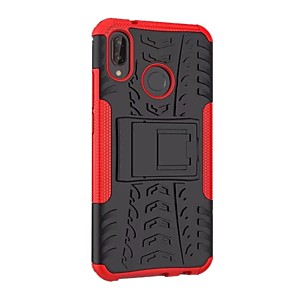 cheap Huawei Case-Case For Huawei Huawei P20 lite Shockproof / with Stand / Armor Back Cover Armor Hard PC