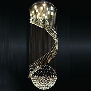 cheap Pendant Lights-14 Bulbs 80cm(31.5 Inch) LED Pendant Light Metal Electroplated Tiffany / Rustic / Lodge / Modern Contemporary 110-120V / 220-240V