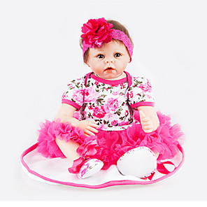 cheap Reborn Doll-NPKCOLLECTION 22 inch NPK DOLL Reborn Doll Reborn Baby Doll Newborn lifelike Cute Child Safe Non Toxic with Clothes and Accessories for Girls' Birthday and Festival Gifts