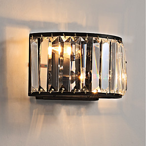 cheap Indoor Wall Lights-Crystal / Mini Style Traditional / Classic Flush Mount wall Lights Living Room / Indoor Metal Wall Light 110-120V / 220-240V 45W