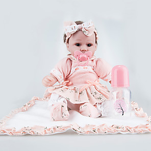 cheap Reborn Doll-NPKCOLLECTION 18 inch NPK DOLL Reborn Doll Newborn lifelike Child Safe Non Toxic Hand Applied Eyelashes with Clothes and Accessories for Girls' Birthday and Festival Gifts