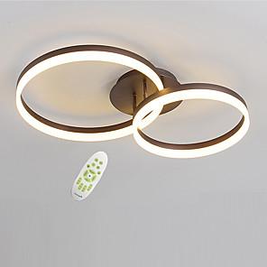 cheap Flush Mounts & Semi Flush Mounts-2-Light Geometric Modern Electrodeless Dimming LED Ceiling Light  50/40 Two Laps Acrylic Indoor Light For Living Room Bedroom Restaurant