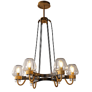 cheap Candle-Style Design-LWD 6-Light 65 cm New Design / Candle Style Chandelier Metal Glass Candle-style Painted Finishes Artistic / Traditional / Classic 110-120V / 220-240V