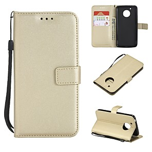 cheap Other Phone Case-Case For Motorola Moto G5s Plus / Moto G5s / Moto G5 Plus Wallet / Card Holder / Flip Full Body Cases Solid Colored Hard PU Leather