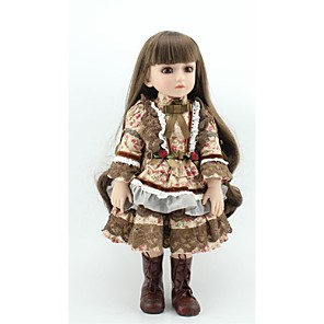 cheap Reborn Doll-NPKCOLLECTION 18 inch NPK DOLL Ball-joined Doll / BJD Country Girl Gift Cute Child Safe Non Toxic Tipped and Sealed Nails Full Body Silicone Silicone Vinyl with Clothes and Accessories for Girls