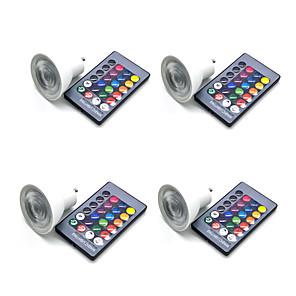 cheap LED Smart Bulbs-4pcs 5 W LED Spotlight 350 lm GU10 GU5.3 E26 / E27 3 LED Beads SMD 5050 Smart Dimmable Remote-Controlled RGBW 85-265 V