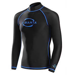cheap Wetsuits, Diving Suits & Rash Guard Shirts-Dive&Sail Men's Rash Guard Neoprene Breathable Quick Dry Long Sleeve Diving Fashion Spring Summer / Stretchy