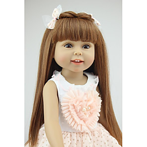cheap Reborn Doll-NPKCOLLECTION 18 inch NPK DOLL Fashion Doll Country Girl Eco-friendly Gift Child Safe Non Toxic Tipped and Sealed Nails Full Body Silicone with Clothes and Accessories for Girls' Birthday and