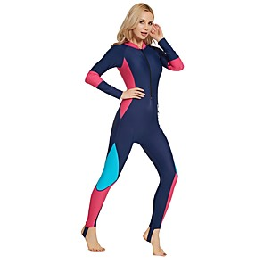 cheap Wetsuits, Diving Suits & Rash Guard Shirts-SBART Women's Rash Guard Dive Skin Suit Elastane Diving Suit UV Sun Protection Breathable Full Body Front Zip - Swimming Diving Snorkeling Fashion Summer / Micro-elastic