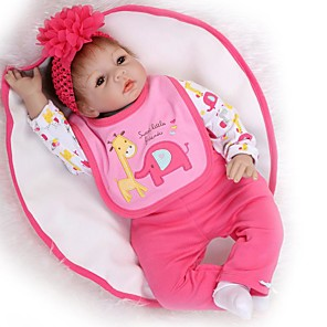 cheap Reborn Doll-NPKCOLLECTION 24 inch NPK DOLL Reborn Doll Girl Doll Baby Girl Reborn Toddler Doll lifelike Gift Child Safe Non Toxic Tipped and Sealed Nails Cloth 3/4 Silicone Limbs and Cotton Filled Body with