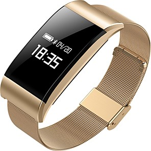 cheap Smartwatches-A66 Smart Wristband Bluetooth Fitness Tracker Support Notification/ Heart Rate Monitor Sports Waterproof Smartwatch for iPhone/ Samsung/ Android Phones