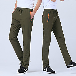 cheap Hiking Trousers & Shorts-Men's Hiking Pants Outdoor Waterproof Breathable Quick Dry Anatomic Design Spandex Pants / Trousers Bottoms Camping / Hiking Hunting Fishing Dark Grey Army Green Khaki 4XL L XL XXL XXXL / Stretchy
