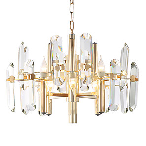 cheap Candle-Style Design-LWD 8-Light 60 cm Creative / Candle Style Chandelier Metal Glass Candle-style Electroplated Artistic / Modern 110-120V / 220-240V