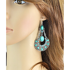 cheap Jewelry Sets-Women's Drop Earrings Long Pear Ladies Basic Fashion Earrings Jewelry Red / Blue / Pink For Daily Date 1 Pair