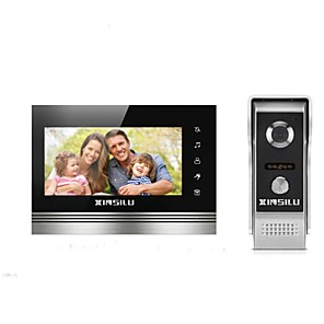 cheap Video Door Phone Systems-XINSILU XSL-V70K-M4 7 inch Hands-free 800*480 Pixel One to One video doorphone