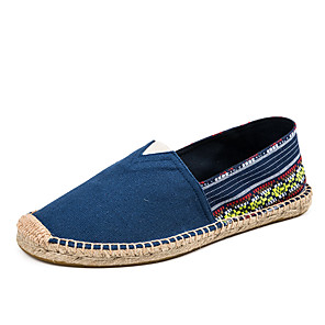 cheap Men's Slip-ons & Loafers-Unisex Canvas Fall / Spring & Summer Casual Loafers & Slip-Ons Walking Shoes Wear Proof Navy Blue / Green