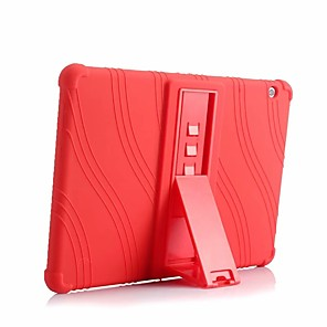 cheap iPad case-Case For Huawei MediaPad Huawei MediaPad T3 10(AGS-W09, AGS-L09, AGS-L03) Shockproof / with Stand Back Cover Solid Colored Soft Silicone