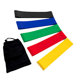 cheap Fitness Gear & Accessories-Exercise Resistance Bands Emulsion Calories Burned Stretchy Strength Training Physical Therapy Yoga Pilates Fitness For Home Office