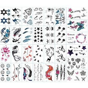 cheap Tattoo Stickers-30 pcs Tattoo Stickers Temporary Tattoos Totem Series / Animal Series / Flower Series Body Arts Brachium