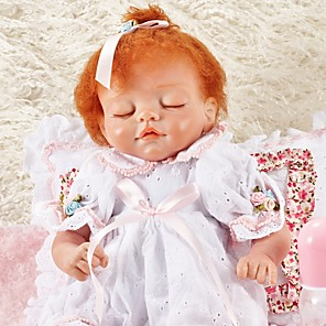 cheap Stuffed Animals-FeelWind 18 inch Reborn Doll Girl Doll Baby Girl lifelike Eco-friendly Hand Made Child Safe Non Toxic Cloth 3/4 Silicone Limbs and Cotton Filled Body with Clothes and Accessories for Girls' Birthday