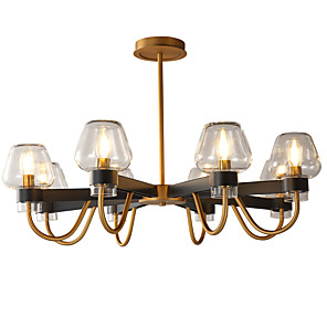 cheap Candle-Style Design-LWD 8-Light 61 cm New Design / Candle Style Chandelier Metal Glass Candle-style Painted Finishes Artistic / Traditional / Classic 110-120V / 220-240V
